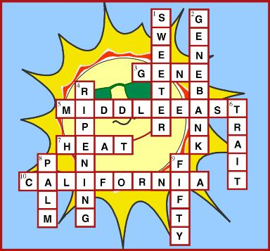 crossword puzzle answer key graphic