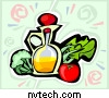 Graphic of a vinegar and veggies. / Copyrighted image used with permission by NVTech Inc.