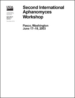 White background, Second International Aphanomyces Workshop cover: Click here to view publication online (pdf file).