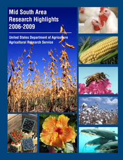 Photos of chickens, corn, bee, cotton, catfish, flower, mixed berries, and soybean: Click here to view publication online (pdf file).