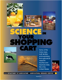 Cover, photos of orange juice, baby formula, shopping cart filled with groceries, grazing cow, wheat sheaf, tomatoes and tomato products: Click here to view publication online (pdf file).
