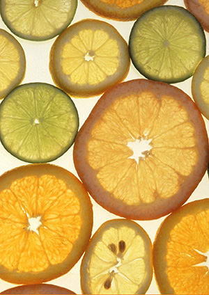 Slices of citrus