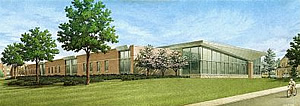 Artist's rendering of the new Cereal Crops Research Laboratory at Madison, Wisconsin.