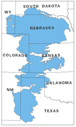 Photo: Map of the Ogallala aquifer.