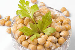 Photo: Bowl of chickpeas.