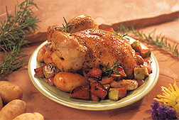 Photo: Roasted chicken dinner.