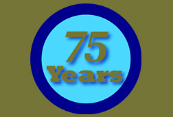 Photo: 75th Anniversary logo.