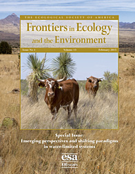 Photo: Cover of February issue of Frontiers in Ecology and the Environment. Link to 300 dpi cover.