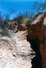 Eroding channel
