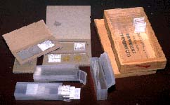 photo of microscope slide containers