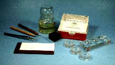 photo of materials used in slide making