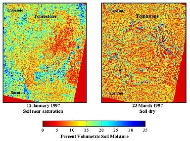 Soil moisture maps