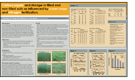 Poster titled Carbon supply and storage in tilled and non-tilled soils as influenced by cover crops and nitrogen fertilization.