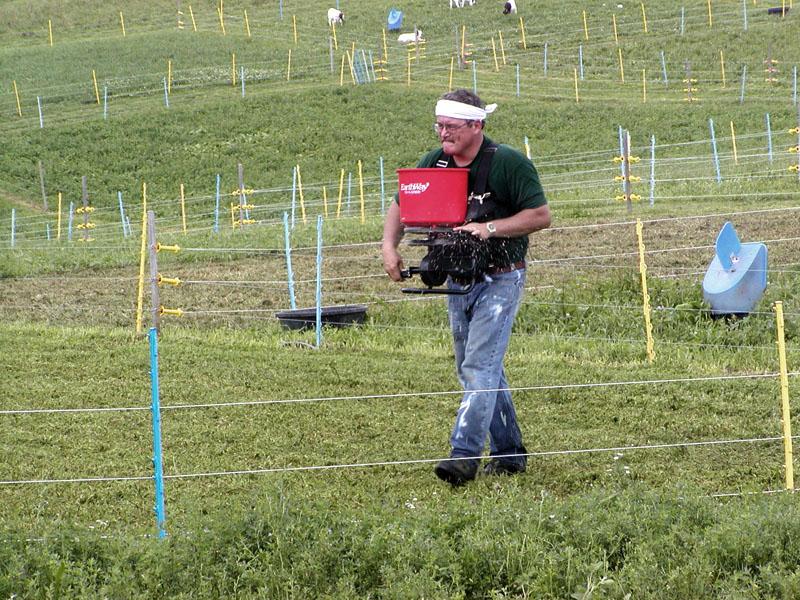Ken Harless seeding pasture