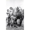 Thumbnail of Kathy Anderson riding plow horse