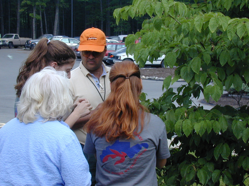 Dr. Ferreira works with envirothon team
