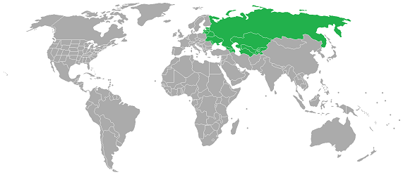 Map of Eastern Europe and Central Asia