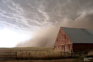 Dust storm in Bird City, KS
