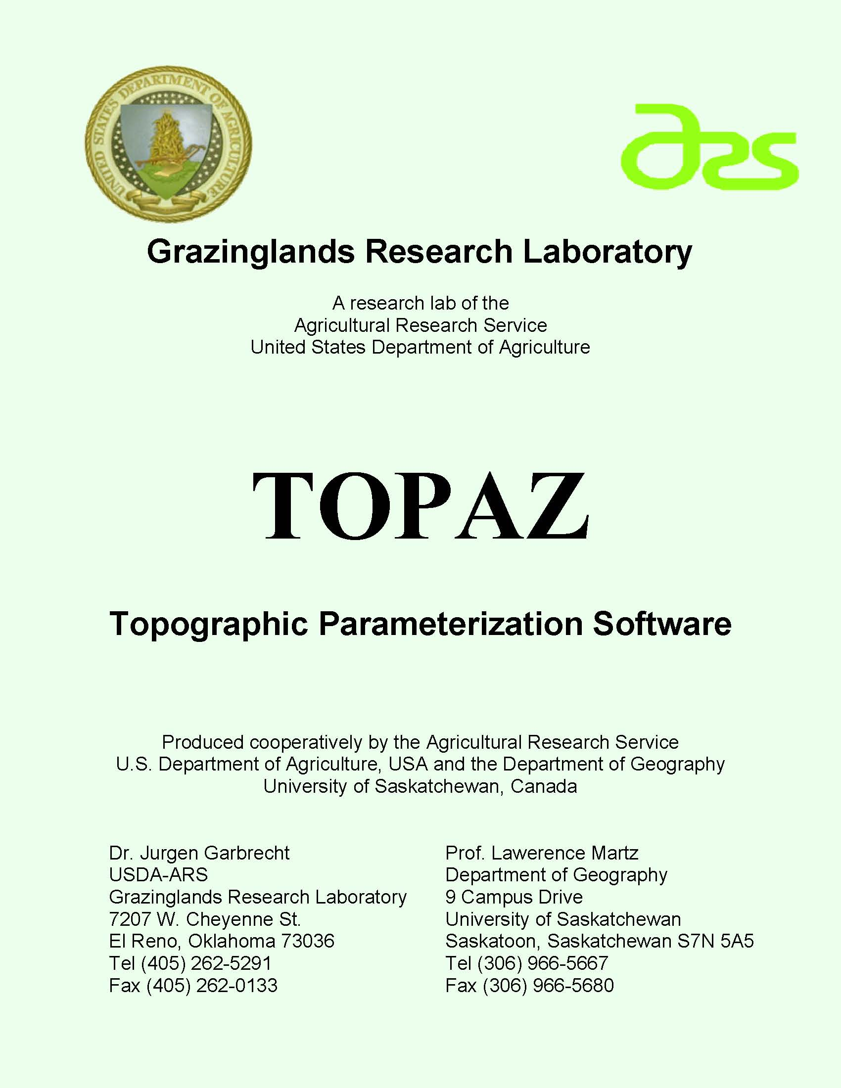 TOPAZ Cover Page