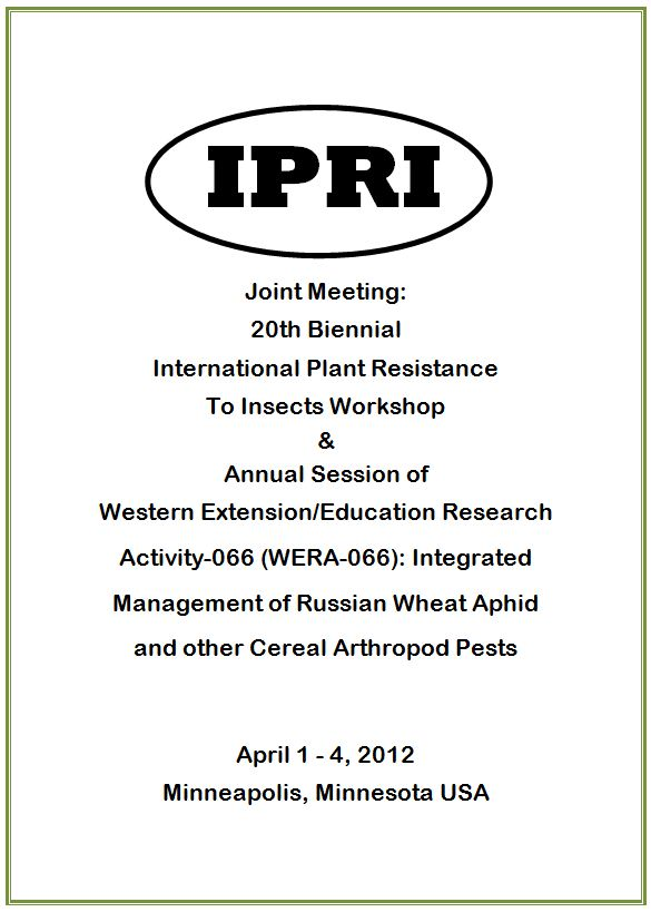 2012 IPRI Workshop Program