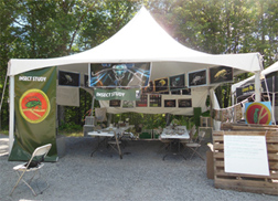 Picture of insect study tent at the Jamboree