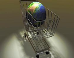 Globe in Shopping Cart