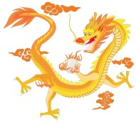 cartoon image of a yellow dragon