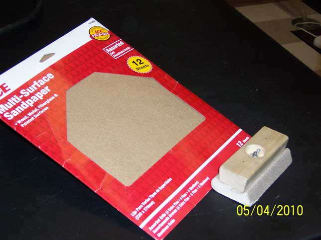 sandpaper and block
