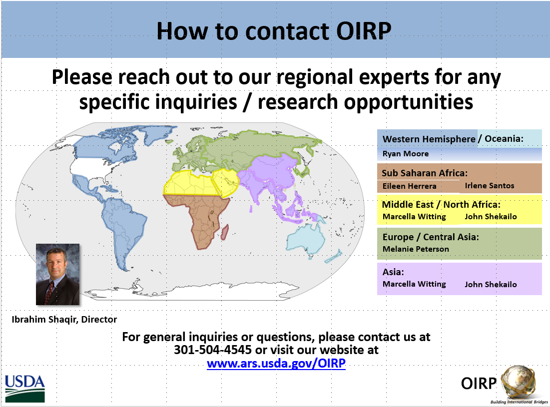 OIRP Regional Contacts Map