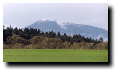 Photo of Mary's Peak west of Corvallis, Oregon