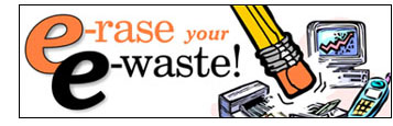 E-rase your E-waste! logo.