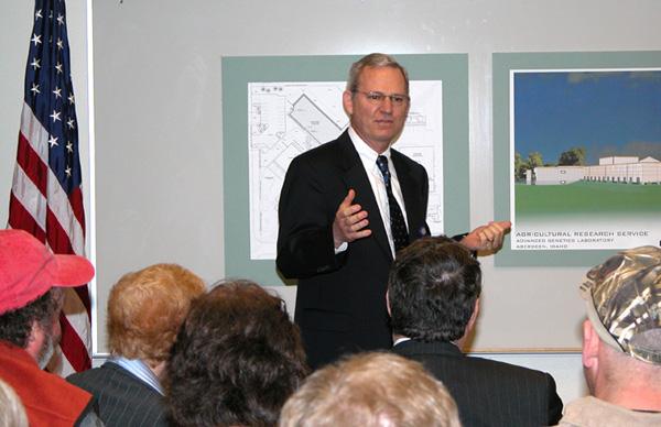 Dr. Bonman greets guests