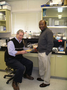 Dr. Raboy with Dr. Tongoona