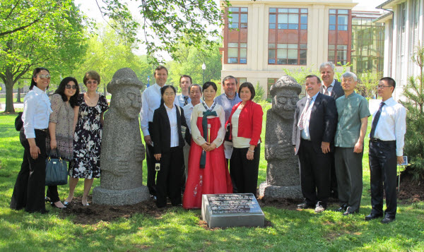 Korean Garden Dedication Group Photo