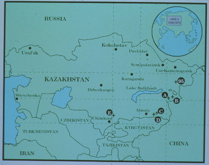 1995 map of Kazakhstan