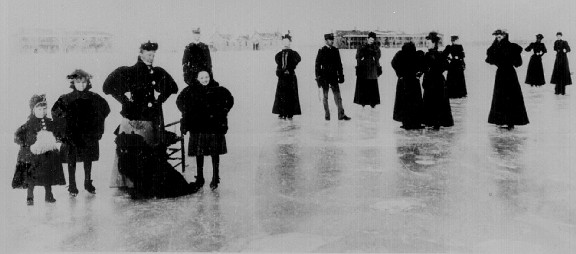 Skating party at Ft. Keogh about 1890.