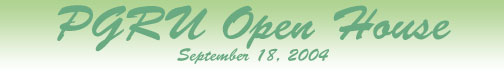 PGRU Open House Header