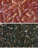 Picture of colored bran rice