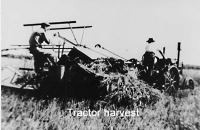 Picture of tractor harvest
