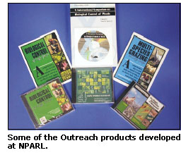 Photograph showing samples of the Outreach products developed at NPARL.