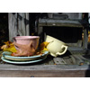 Thumbnail of teacups and autumn leaves