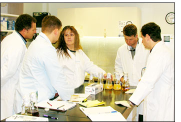 Photograph of NPARL's Julie Grace with the scientists that attended the Solid Substrate Fermentation Workshop.