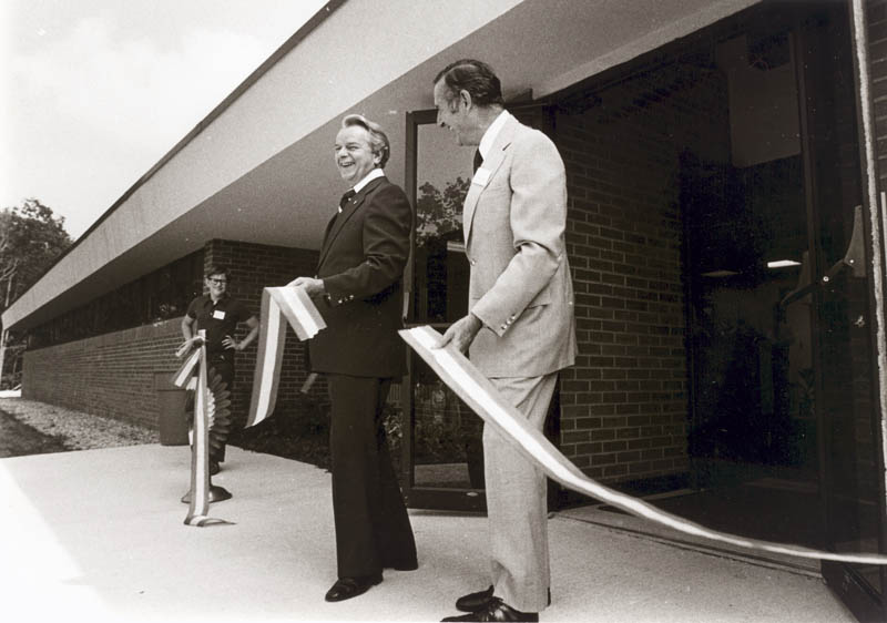 Senator Bryd cuts ribbon at AFSRC Dedication in 1980