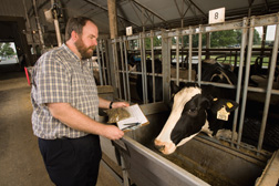 BARC scientists use the sequence of the cow genome to predict milk production in dairy cows with three times higher accuracy and at one-twentieth of the cost: Click here for full photo caption.