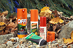 Insect repellants made from DEET, an ARS-developed compound: Click here for full photo caption.