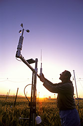 The FACE team leader adjusts wind sensors. Click here for full photo caption.