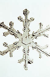 Micrograph of snow crystal