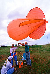 Tethered weather balloon