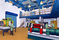 Artist's rendering of the remoded SRRC's Oilseed and Grain Processing Pilot Plant.