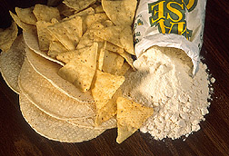 Small group of tortillas and tortilla chips: Click here for full photo caption.